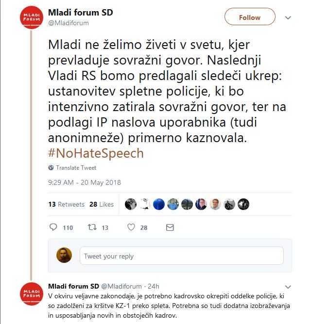 Screenshot-2018-5-21 Mladi forum SD on Twitter Mladi ne želimo živeti v svetu, kjer prevladuje sovražni govor Naslednji Vla[...]