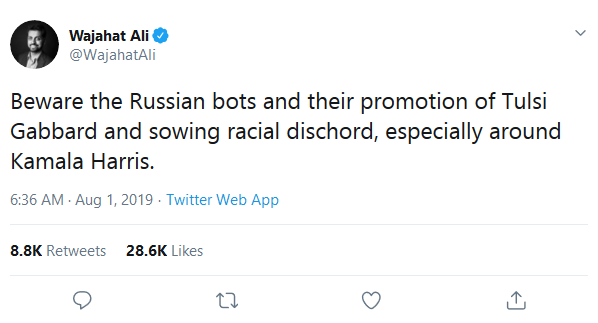 Screenshot_2019-08-03 (10) Wajahat Ali on Twitter Beware the Russian bots and their promotion of Tulsi Gabbard and sowing r[...]
